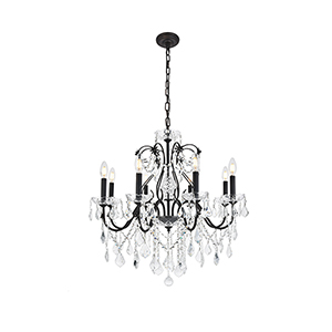 St. Francis Dark Bronze Eight-Light Chandelier