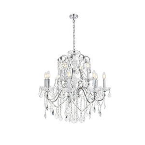 St. Francis Chrome 12-Light Chandelier