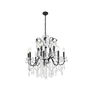 St. Francis Dark Bronze 12-Light Chandelier