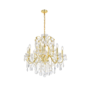 St. Francis Gold 12-Light Chandelier
