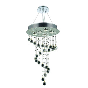 Galaxy Chrome 16-Inch Five-Light Chandelier with Elements Crystal