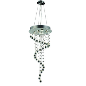 Galaxy Chrome Five-Light Chandelier with Clear Elements Crystal