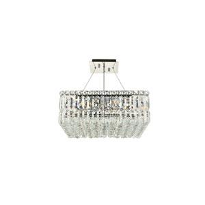 Maxime Chrome with Elegant Cut Crystal 12-Light Island Chandelier