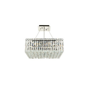 Maxime Chrome 12-Light Island Chandelier with Royal Cut Crystal