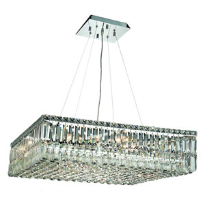 Maxime Chrome with Clear Elements Crystal 12-Light Island Chandelier