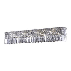 Maxime Chrome Eight-Light Wall Sconce with Clear Elegant Cut Crystal
