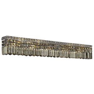 Maxime Chrome 10-Light Wall Sconce with Smoky Royal Cut Crystal