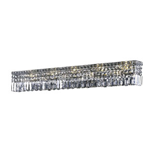 Maxime Chrome 44-Inch 10-Light Wall Sconce with Clear Spectra Crystal