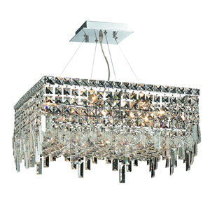 Maxime Chrome 20-Inch 12-Light Island Chandelier with Clear Royal Cut Crystal