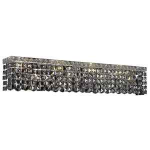 Maxime Chrome 36-Inch Eight-Light Wall Sconce with Silver Shade