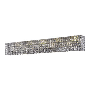 Maxime Chrome 44-Inch 10-Light Wall Sconce with Clear Elegant Cut Crystal