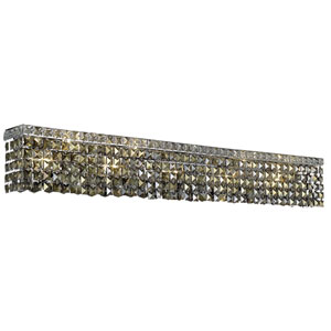 Maxime Chrome 44-Inch 10-Light Wall Sconce with Smoky Royal Cut Crystal