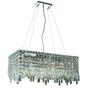 Maxime Chrome Six-Light Island Chandelier with Clear Royal Cut Crystal