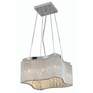 Influx Chrome 16-Inch Eight-Light Pendant