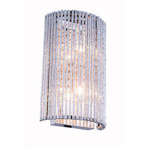 Influx Chrome Seven-Inch Two-Light Wall Sconce