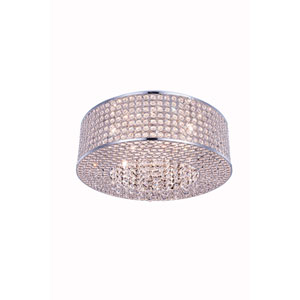 Amelie Chrome 20-Inch Eight-Light Flush Mount