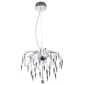 Amour Chrome 20-Inch Eight-Light Chandelier