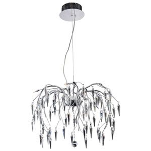 Amour Chrome 24-Inch 12-Light Chandelier