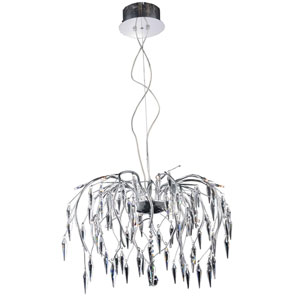 Amour Chrome 28-Inch 16-Light Chandelier