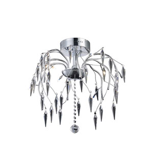 Amour Chrome 20-Inch Eight-Light Flush Mount
