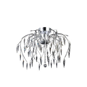 Amour Chrome 24-Inch 12-Light Flush Mount