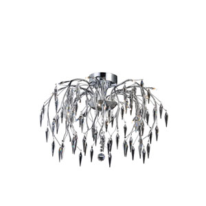 Amour Chrome 28-Inch 16-Light Flush Mount
