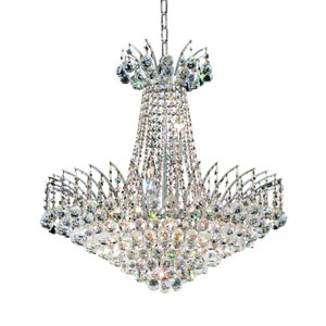 Victoria Chrome 11-Light Chandelier with Clear Elegant Cut Crystal