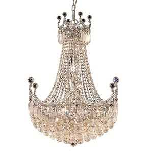 Corona Chrome 24-Inch 18-Light Chandelier with Swarovski Crystal