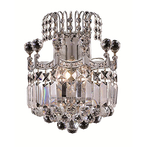 Corona Chrome 12-Inch Two-Light Wall Sconce with Elegant Cut Crystal