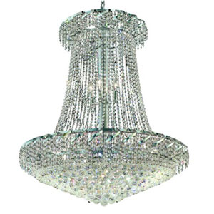 Belenus Chrome 22-Light Chandelier with Clear Elements Crystal