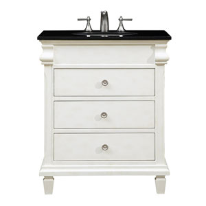 Hampton Antique White 30-Inch Vanity Sink Set