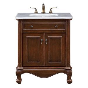 Luxe Teak 30-Inch Vanity Sink Set