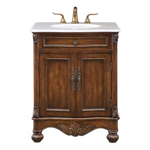 Windsor Teak 27-Inch Vanity Sink Set