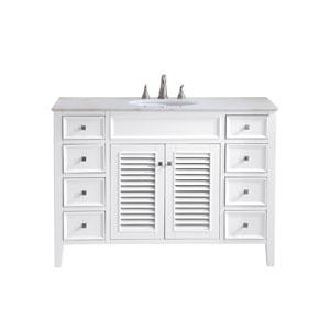 Cape Cod White 48-Inch Vanity Sink Set