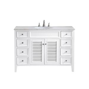 Cape Cod White 48-Inch Vanity Sink Set