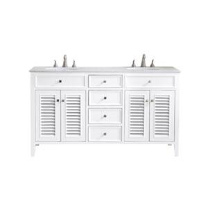 Cape Cod White 60-Inch Vanity Sink Set
