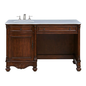 Windsor Teak 52-Inch Vanity Sink Set