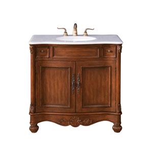 Windsor Teak 36-Inch Vanity Sink Set