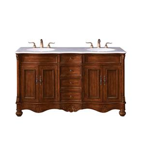 Windsor Teak 60-Inch Vanity Sink Set