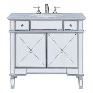 Camille Silver 36-Inch Vanity Sink Set
