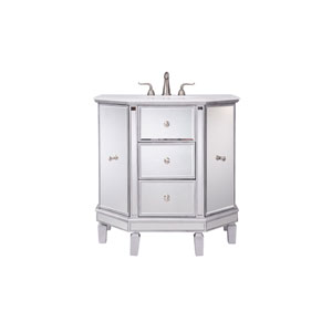 Nouveau Silver 35-Inch Vanity Sink Set