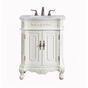 Danville Antique White 27-Inch Vanity Sink Set