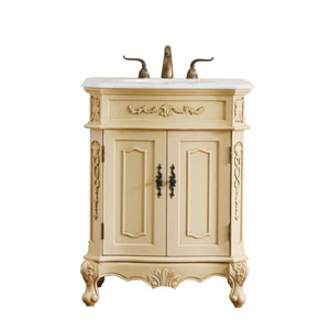 Danville Light Antique Beige 27-Inch Vanity Sink Set