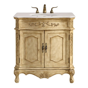 Danville Antique Beige 32-Inch Vanity Sink Set