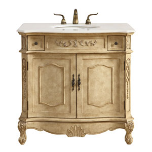 Danville Antique Beige 36-Inch Vanity Sink Set