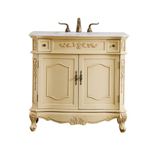 Danville Light Antique Beige 36-Inch Vanity Sink Set