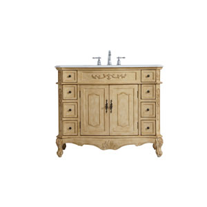 Danville Antique Beige 42-Inch Vanity Sink Set