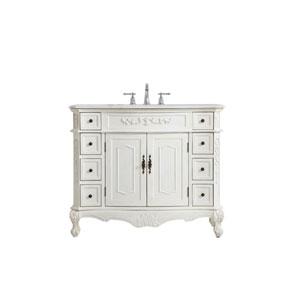 Danville Antique White 42-Inch Vanity Sink Set