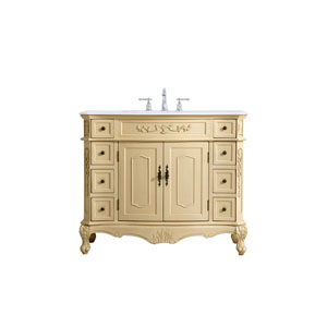 Danville Light Antique Beige 42-Inch Vanity Sink Set