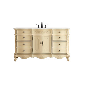 Danville Light Antique Beige 60-Inch Vanity Sink Set